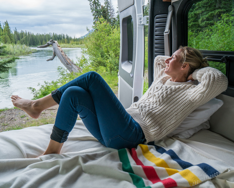 Relaxing in a Rental RV