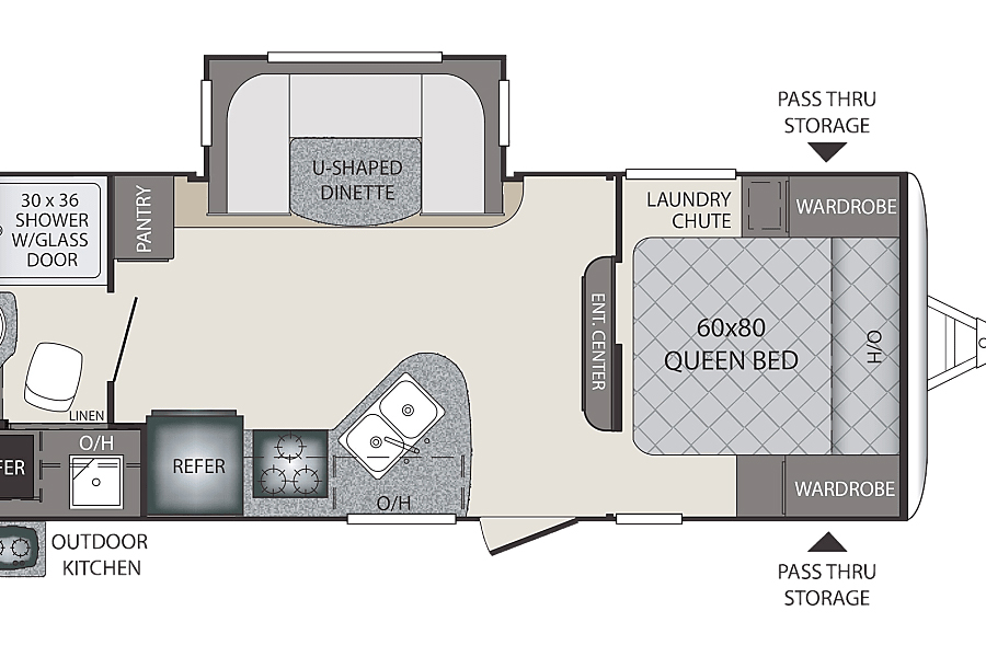 Floorplan of Texas Whiskey, an RV for rent in Houston