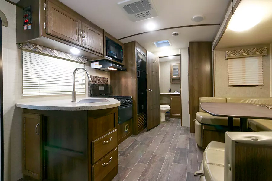 "Inside ""Texas Whiskey"", one of our rental RVs"